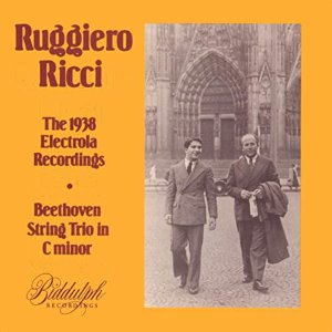 Ruggiero Ricci, Carl Furstner / Beethoven: String Trio in C minor - The 1938 Electrola Recordings