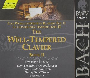 Robert Levin / Bach: The Well-Tempered Clavier Book II BWV870-893 (2CD)