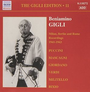 Beniamino Gigli / Gigli Edition, Vol.11 - Milan, Berlin And Rome Recordings