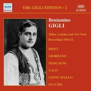 Beniamino Gigli / Gigli Edition, Vol. 2 - Milan, Camden and New York Recordings