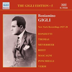 Beniamino Gigli / Gigle Edition, Vol.5 - New York Recordings