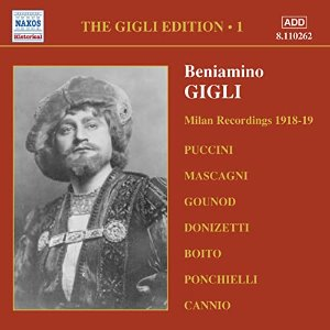 Beniamino Gigli / Gigli Edition, Vol.1 - Milan Recordings