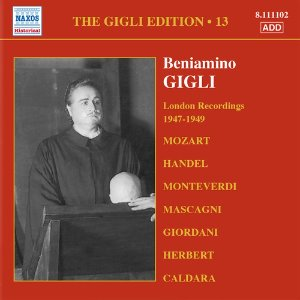 Beniamino Gigli / Gigli Edition, Vol.13 - London Recordings