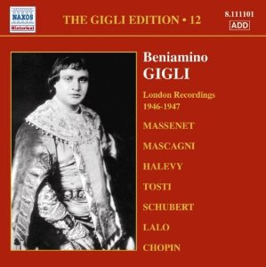 Beniamino Gigli / Gigli Edition, Vol.12 - London Recordings