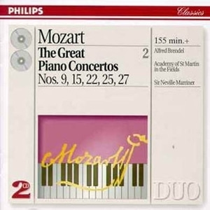 Alfred Brendel & Neville Marriner / Mozart: The Great Piano Concertos Vol. 2 (2CD)