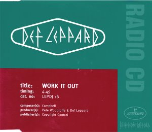 Def Leppard / Work It Out (홍보용)