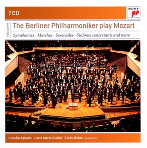 Claudio Abbado, Carlo Maria Giulini, Zubin Mehta / The Berliner Philharmoniker play Mozart (7CD, BOX SET)